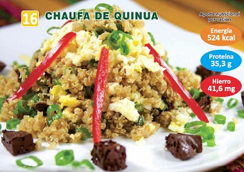 CHAUFA DE QUINUA  Y SANGRECITA