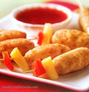 receta croquetas con salsa agridulce