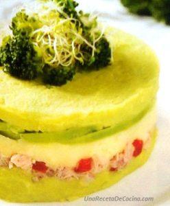 receta de causa de brócoli