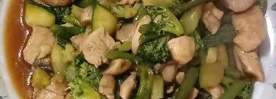 Receta de Pollo con verduras