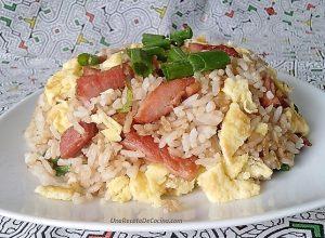 ARROZ CHAUFA DE CECINA, arroz frito de chifa