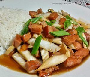 receta de Verduras Salteadas con Cecina
